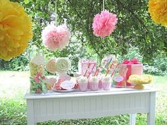 Looking for the newest and best party ideas? Kara's Party Ideas is the place for all things party! Come in and see what is trending in the party world! Candy Table, Candy Buffet, Lolly Buffet, First Birthday Parties, First Birthdays, Birthday Bash, Birthday Ideas, Gingham Party, Pink Gingham
