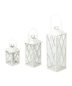 Look at this Cream Lantern Set on #zulily today!