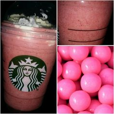 try out a delicious *BUBBLE GUM FRAPPUCCINO* from our #Starbucks secret menu! Its non-caffeinated & tastes amazing!