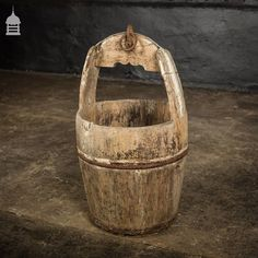 ▪ N E W A R R I V A L S ▪ 18th C Well Bucket with Original Ironwork SKU:NR25819 18th C Well Bucket with Original Ironwork Height:… How To Antique Wood, Norfolk, Wicker Baskets, 18th, Bucket, Wellness, The Originals, Antiques, Instagram