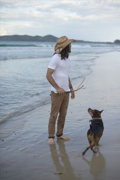 Protect your skin while enjoy a game of fetch on the beach with this organic raffia straw hat!
