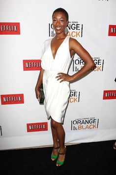 Samira Wiley (Poussey Washington) at the Netflix Presents 'Orange is the New Black' premiere in NYC. #OITNB