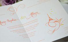 Creation Faire part mariage arabesque classique Paris  Création sur mesure   L'Atelier d'Elsa www.latelierdelsa.com