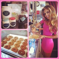 Healthy donut & latte recipes ~ from Tone It Up