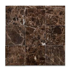 "Buy 4 X 4 Emperador Dark Marble Polished Field Tile Sample Product Attributes - Item: Premium (SELECT) Quality 4"" X 4"" Spanish Emperador Dark Marble POLISHED & MICRO BEVELED SQUARE FIELD TILE (LOOSE P"