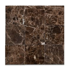"Buy 4 X 4 Emperador Dark Marble Polished Field Tile Sample Product Attributes - Item: Premium (SELECT) Quality 4"" X 4"" Spanish Emperador Dark Marble POLISHED & MICRO BEVELED SQUARE FIELD TILE (LOOSE P"