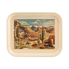 An instant classic: this Desert Paint by Numbers Tray by Fishs Eddy at Aesthetic Movement