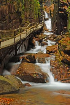Flume Gorge Trail, Franconia Notch State Park, New Hampshire