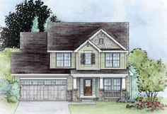 MonsterHousePlans - 10-1635 Two Story House Plans, Best House Plans, House Floor Plans, Monster House Plans, Craftsman Style House Plans, Traditional House Plans, Build Your Dream Home, Building A House, Building Ideas