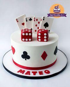 Fète Casino, Casino Cakes, Funny 50th Birthday Cakes, 12th Birthday Cake, Fondant Cakes, Cupcake Cakes, Magician Cake, Cake Decorating Tips, Cake Decorating Techniques