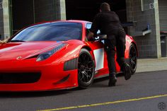 Ferrari 458 Italia being pushed to garage #petrolified