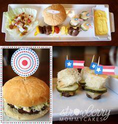 4th of July Menu--mmm hamburger fingerfood