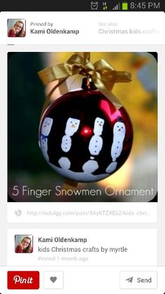 Snowman ornament - I think I found this year's ornament project!!