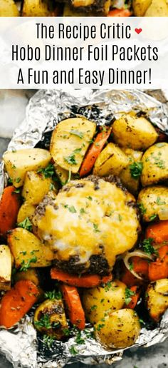Hobo Foil Dinners, Foil Packet Dinners, Foil Pack Meals, Grilling Recipes, Beef Recipes, Cooking Recipes, Healthy Recipes, Chicken Foil Packets, Hobo Packets