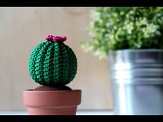 Learn how to make these adorable little crocheted amigurumi cactus characters! Cactus Amigurumi, Crochet Cactus, Crochet Flowers, Amigurumi Tutorial, Amigurumi Patterns, Crochet Patterns, Mini Cactus, Cactus Flower, Form Crochet