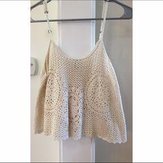 Crochet crop top Crochet crop top. Size small. Forever 21 Tops Crop Tops