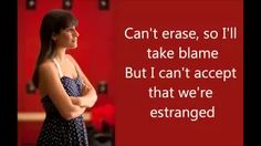 Glee - Without you with Lyrics - YouTube