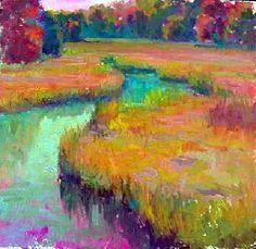 ☼ Painterly Landscape Escape ☼ landscape painting by Lois Griffel