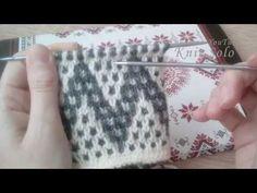 Slip Stitch Knitting, Knitting Stiches, Knitting Videos, Knitting Charts, Baby Knitting, Two Color Knitting Patterns, Knitting Designs, Stitch Patterns, Crochet Patterns