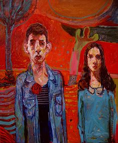 Two Figures With Cactus by Meirion Alan Ginsberg