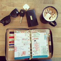 Nothing like planning on a sunny Saturday with a good cup of coffee! #plannersandcoffee