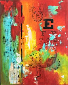 Mixed Media Art by Crystal Renee. Mixed Media Collage. Wall Art. Abstract art. Abstract Paintings.