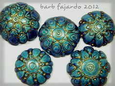 bluemediumsmallmandalabeads by rubarb04, via Flickr