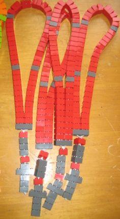 Ohio State Lego Rosary! Go Bucks!  The Recycled Catholic.Etsy.com