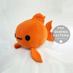 Sewing Pattern Plush Goldfish Soft Toy by PlushPatternShop