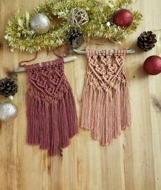 Excited to share the latest addition to my #etsy shop: Mini Macrame Wall Hanging with Choice of Colors (Burgundy or Peach), Home Decor http://etsy.me/2COA8jo