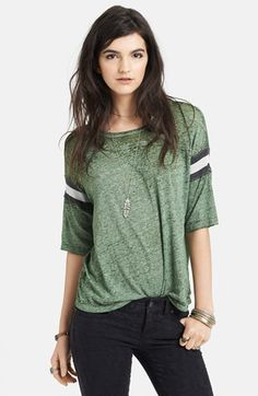 Free People 'Watch Me Shine' Burnout Tee available at #Nordstrom