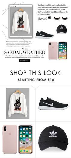 """Bez naslova #551"" by dzeny-118 ❤ liked on Polyvore featuring NIKE and adidas"