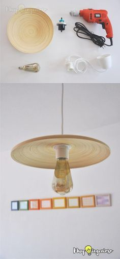 Lámpara DIY con Ikea Hack - Easy DIY Ikea Hack Pendant Light