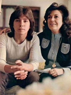 """Actor & Singer David Cassidy (best known for his role on """"The Partridge Family"""" with his mother Evelyn Ward. His step-mother is Shirley Jones."""