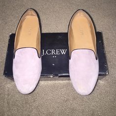J.Crew Addie Suede Loafers Pale Thistle Size 7.5 Pre owned JCREW loafers in excellent condition, some wear on the bottom. Perfect condition otherwise. Will be shipping with box, unless asked otherwise. Please feel free to make an offer, I will consider all offers! J. Crew Shoes Flats & Loafers