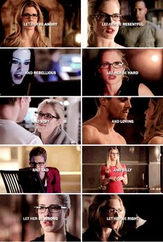 Let her be everything, because she is everything. #arrow