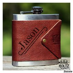 Hatch Groomsmen 6 oz. Leather Wrapped Flask Holtz Leather, Custom Leather, Groomsman Gifts, Fathers Day Gifts, Groomsmen, Gifts For Him, Just In Case, Personalized Gifts, Custom Gifts