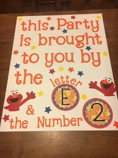 Poster for Elmo themed Birthday❣️