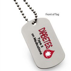 [[description]] [[start tab]] About In an emergency medical situation when every second matters, this dog tag can save your life. Those around you will notice your dog tag and become aware of your con