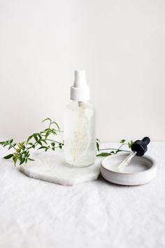 Homemade Jasmine Aloe Perfume Body Spray | http://helloglow.co/perfume-body-spray/