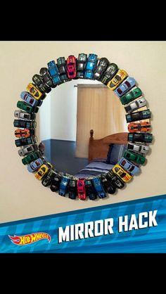 DIY hot wheels mirror