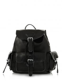 Vita White Real Leather Backpack. Want but without real leather... I just like this style of backpacks/bags