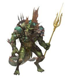 Alien Creatures, Fantasy Creatures, Sea Creatures, Fantasy Rpg, Medieval Fantasy, Fantasy Races, Fantasy Monster, Monster Art, Dnd Characters