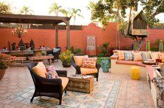 Colorful Moroccan outdoor living - eclectic - patio - san diego - Sage Outdoor Designs