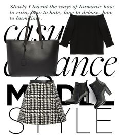 """#138 handbag & shoes pt.3"" by evvelinbarlik ❤ liked on Polyvore featuring TIBI, Jill Stuart, SWEET MANGO, Yves Saint Laurent, women's clothing, women, female, woman, misses and juniors"