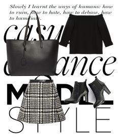 """#138 handbag & shoes pt.3"" by evvelinbarlik ❤ liked on Polyvore featuring TIBI, Jill Stuart, SWEET MANGO, Yves Saint Laurent, women's clothing, women, female, woman, misses and juniors"