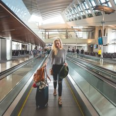 Brandi Locks- LAX Travel, Airport Style, Honeymoon, Italy, Los Angeles, Italian, Explore, Luggage, Leather Backpack from Wilsons Leather, Jennifer Lopez Sandals, Jeggings, Black Jeans, Blonde, Green Hat