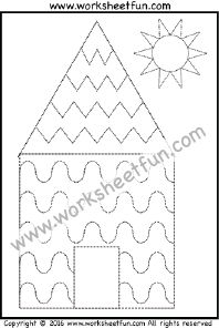 Curved and Zig Zag Line Tracing – One Worksheet