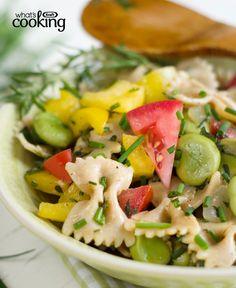 Bow-Tie Pasta Salad with Veggies #recipe