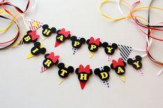 Birthday cake decorations Mickey and Minnie cake banner Disney